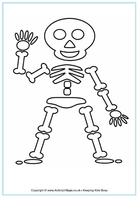 water coloring pages - skeleton coloring pages
