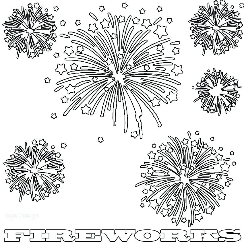 water cycle coloring page - firework coloring pages