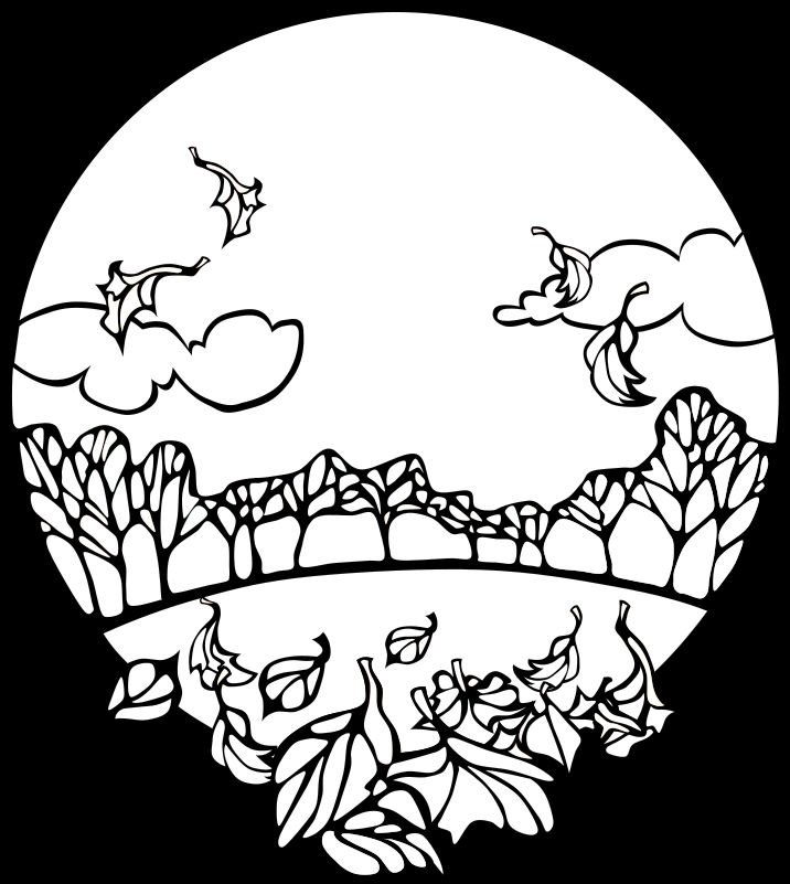 waterfall coloring page - black and white fall pictures
