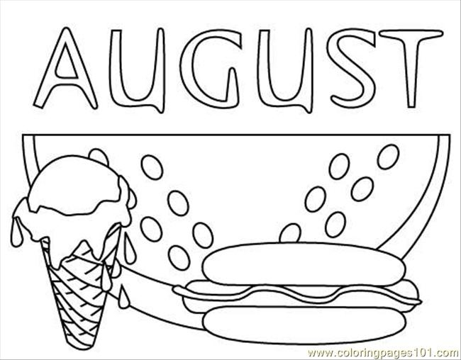 watermelon coloring page - augustclr