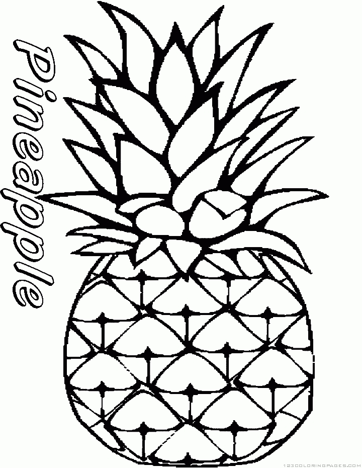 watermelon coloring page - pineapple