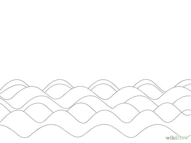 waves coloring page - q=waves