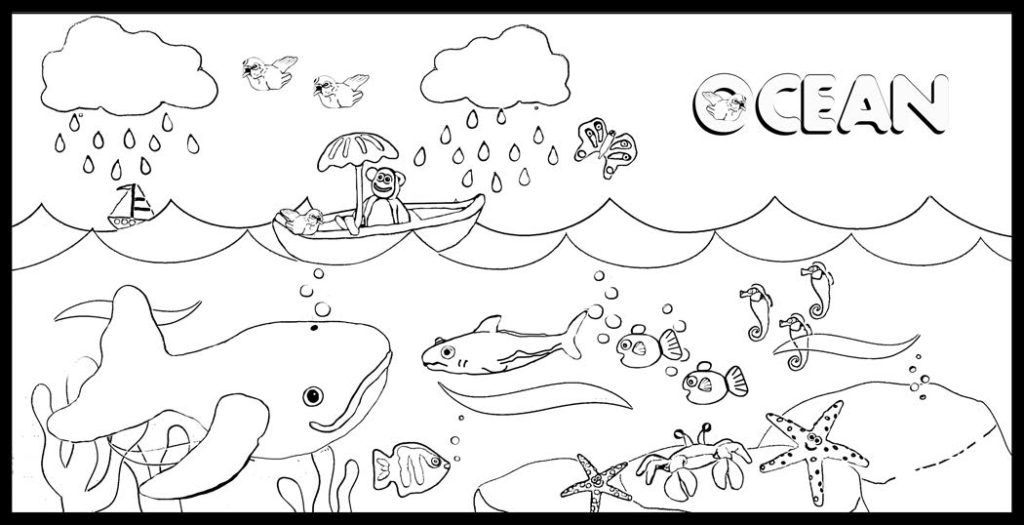 waves coloring page - ocean waves coloring pages