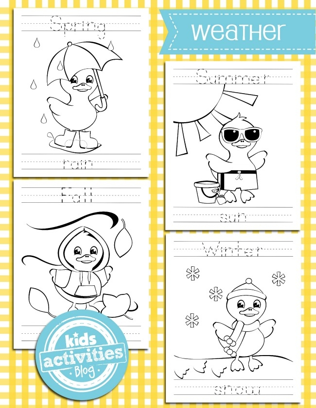 Weather Coloring Pages - Weather Coloring Pages