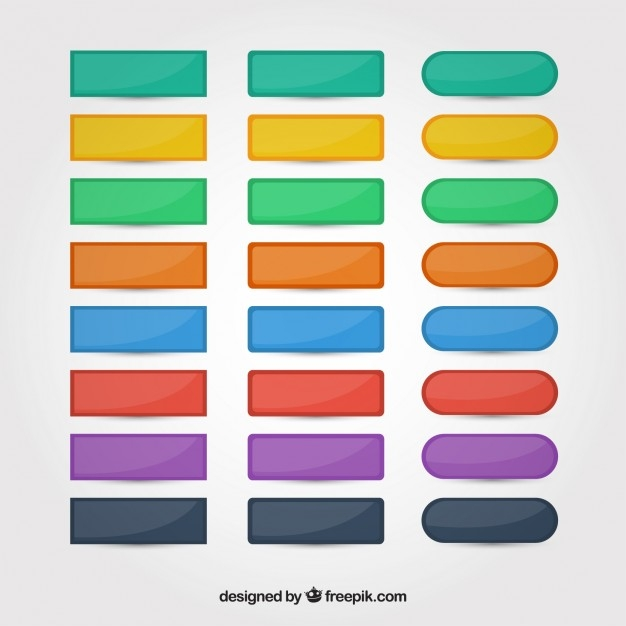 web page colors - colors web buttons set