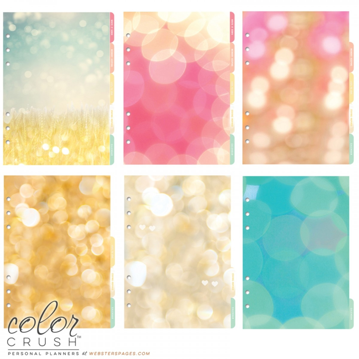 websters pages color crush - a5 light pink planner kit