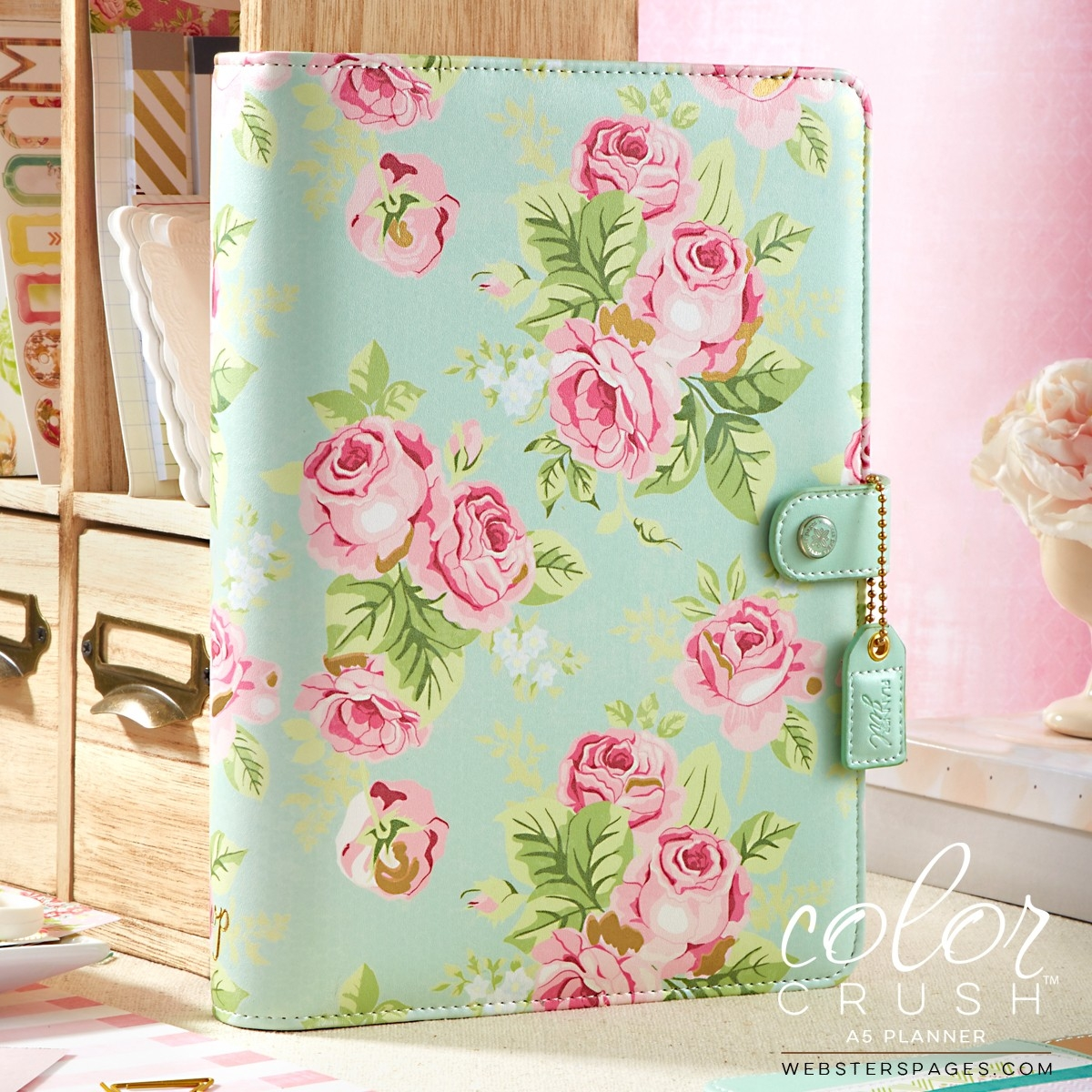 websters pages color crush - a5 mint floral binder only