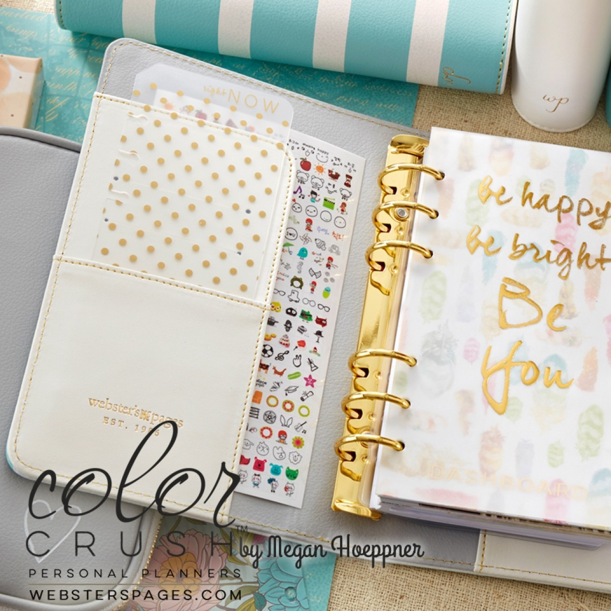 Websters Pages Color Crush - Personal Planner Kit Stripe Personal Planner Kits
