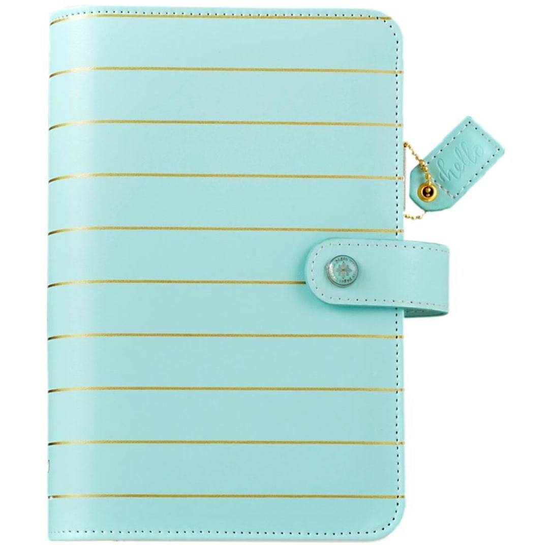 websters pages color crush - websters pages color crush personal planner kit bluegold stripe