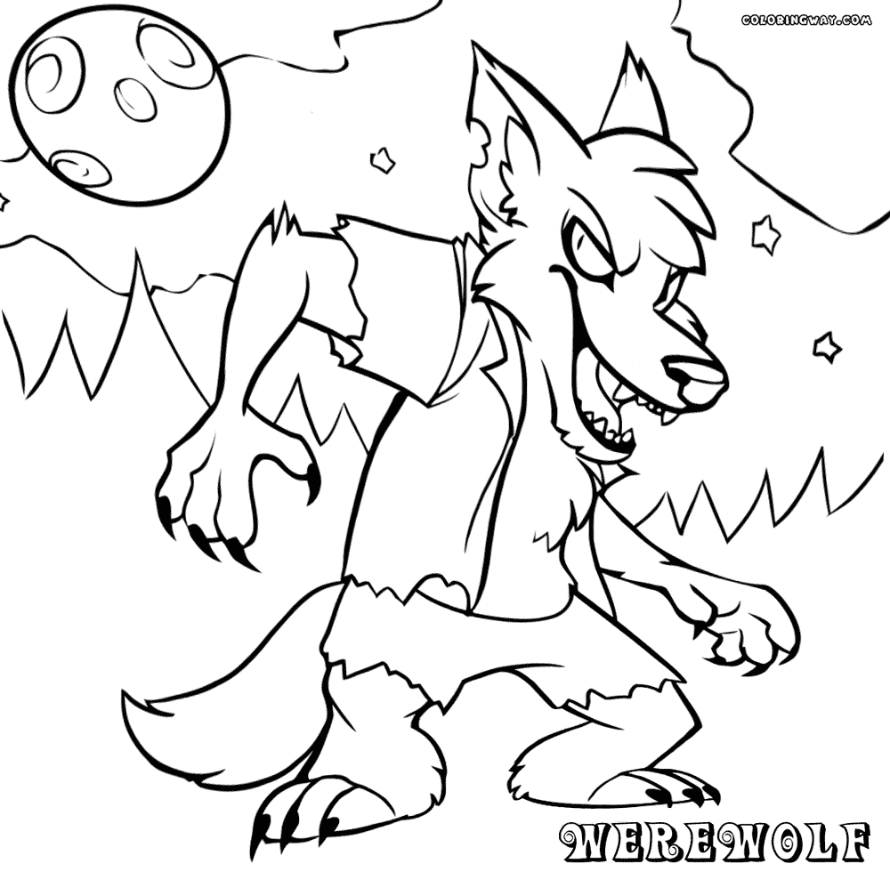 24 Werewolf Coloring Pages Printable FREE COLORING PAGES Part 3
