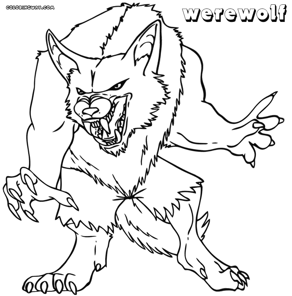 Werewolf Coloring Pages - Werewolf Coloring Pages