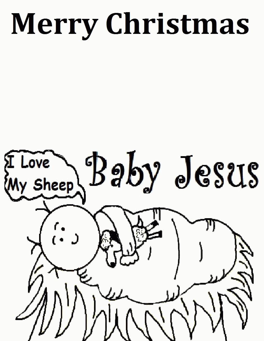 western coloring pages - christmas coloring page jesus