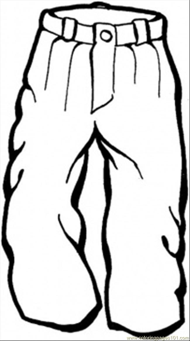 western coloring pages - images of clothing