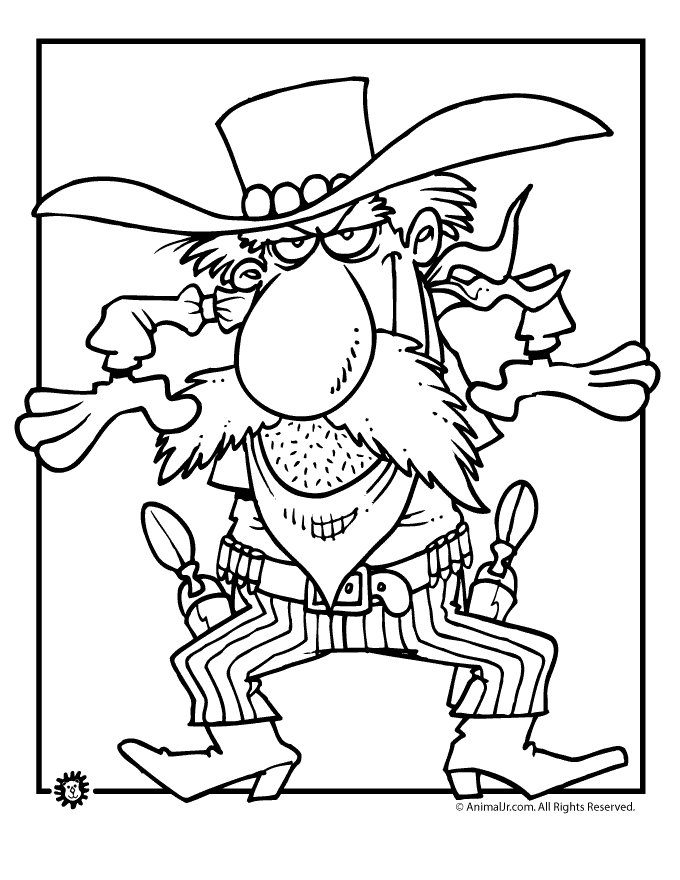 western coloring pages - printable adult wild west town coloring pages