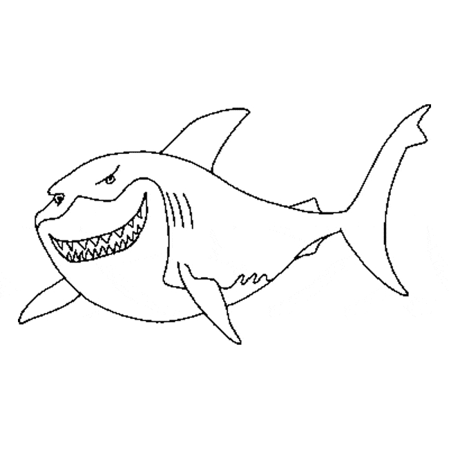 whale coloring pages - great white shark coloring 01