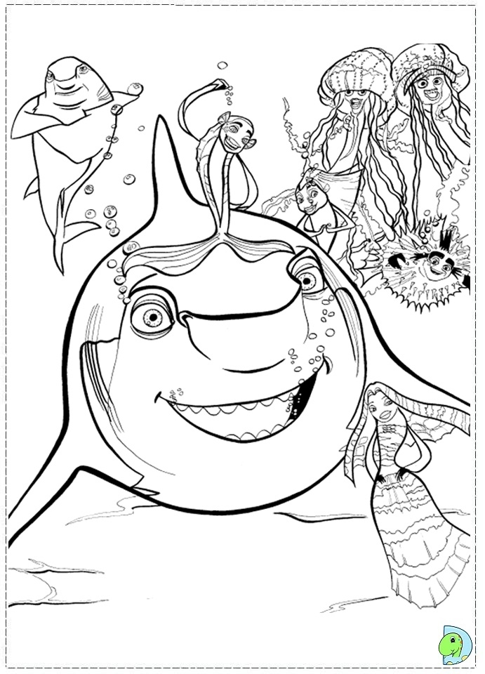 whale shark coloring page - 144 coloring shark tale 03