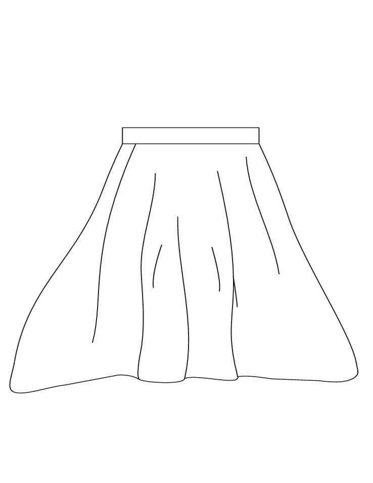 white house coloring page - skirt coloring pages 2 1d3738