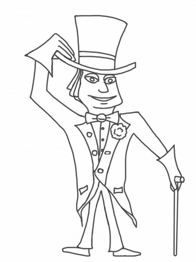 willy wonka coloring pages - charlie and the chocolate factory coloring pages