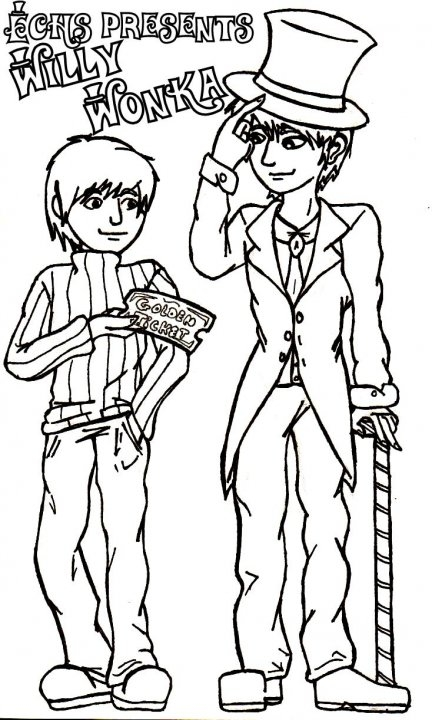 willy wonka coloring pages - willy wonka