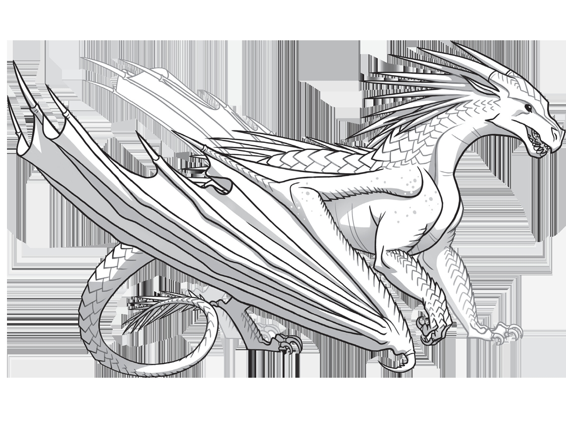 Wings Of Fire Coloring Pages - Free Coloring Pages Of Seawing Dragon