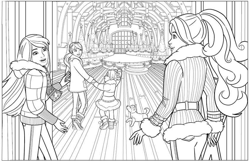 winnie the pooh coloring pages - barbie 25