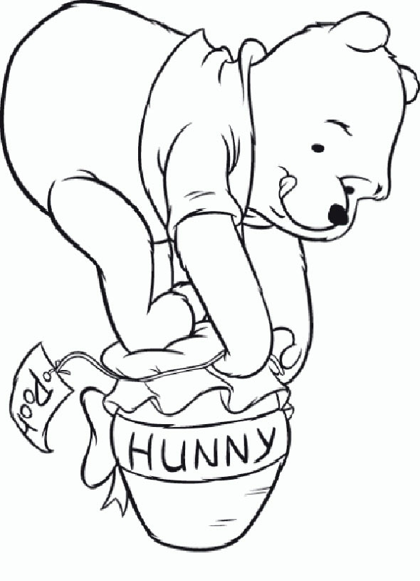 winnie the pooh coloring pages - winnie pooh baby 1