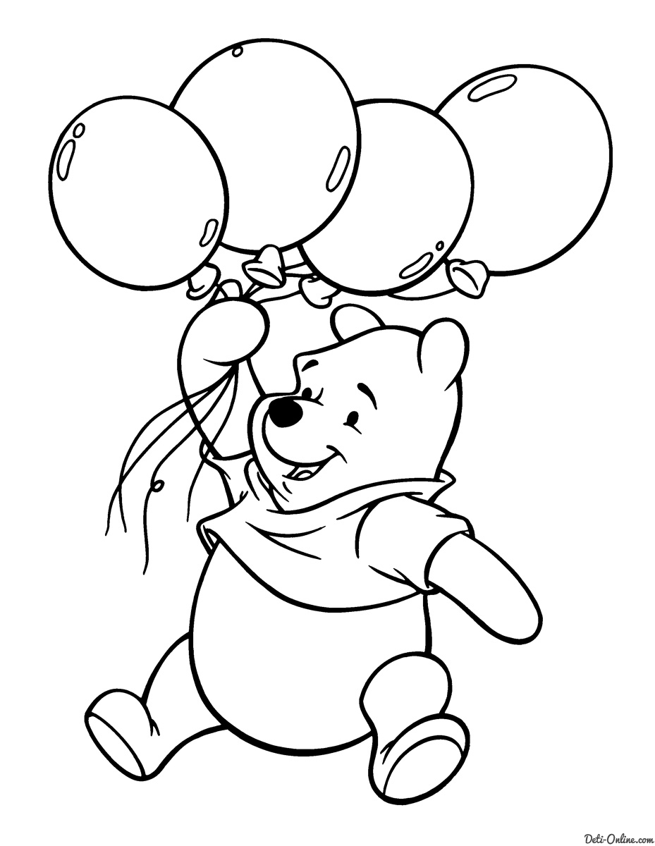 winnie the pooh coloring pages 2387 - Winnie The Pooh Coloring Pages 2