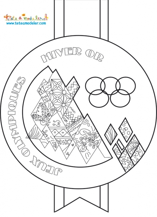 winter coloring pages adults - jeux olympiques