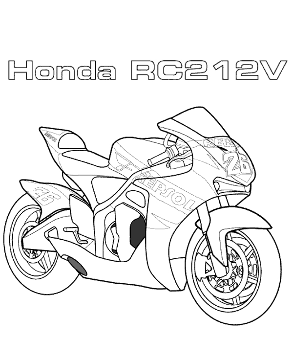 winter coloring pages adults - motorbikes coloring page 9