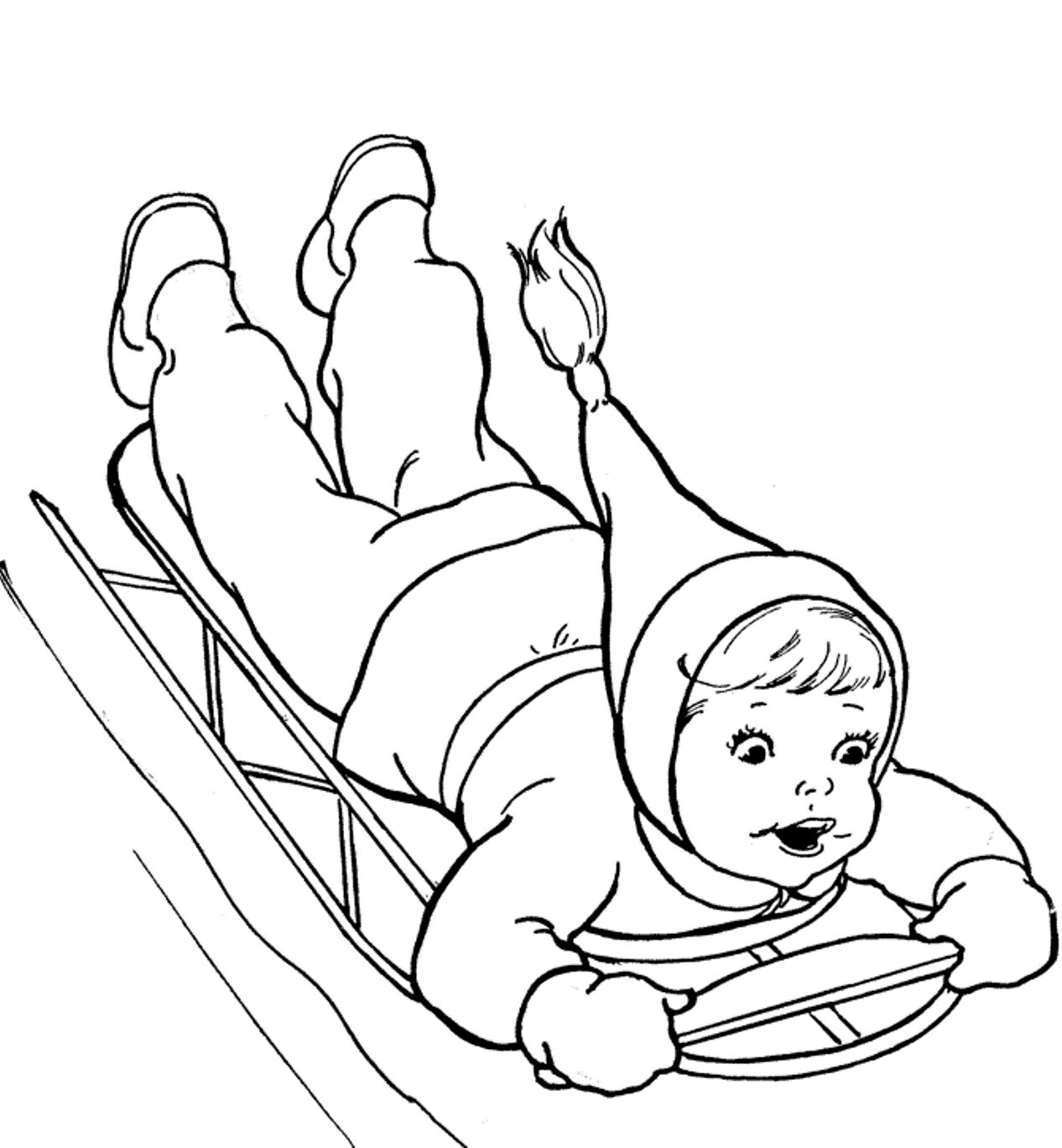 winter coloring pages for preschool - winter coloring pages