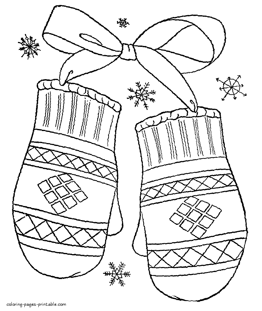 winter coloring pages for preschool - winter clothing coloring pages preschool winter coloring pages miscellaneous coloring pages
