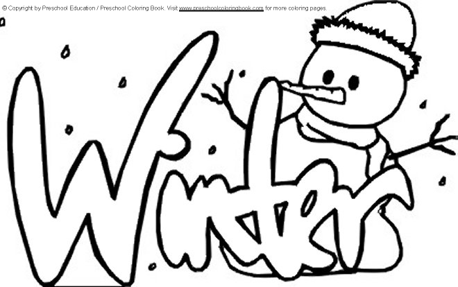 winter coloring pages for preschool - wintertml