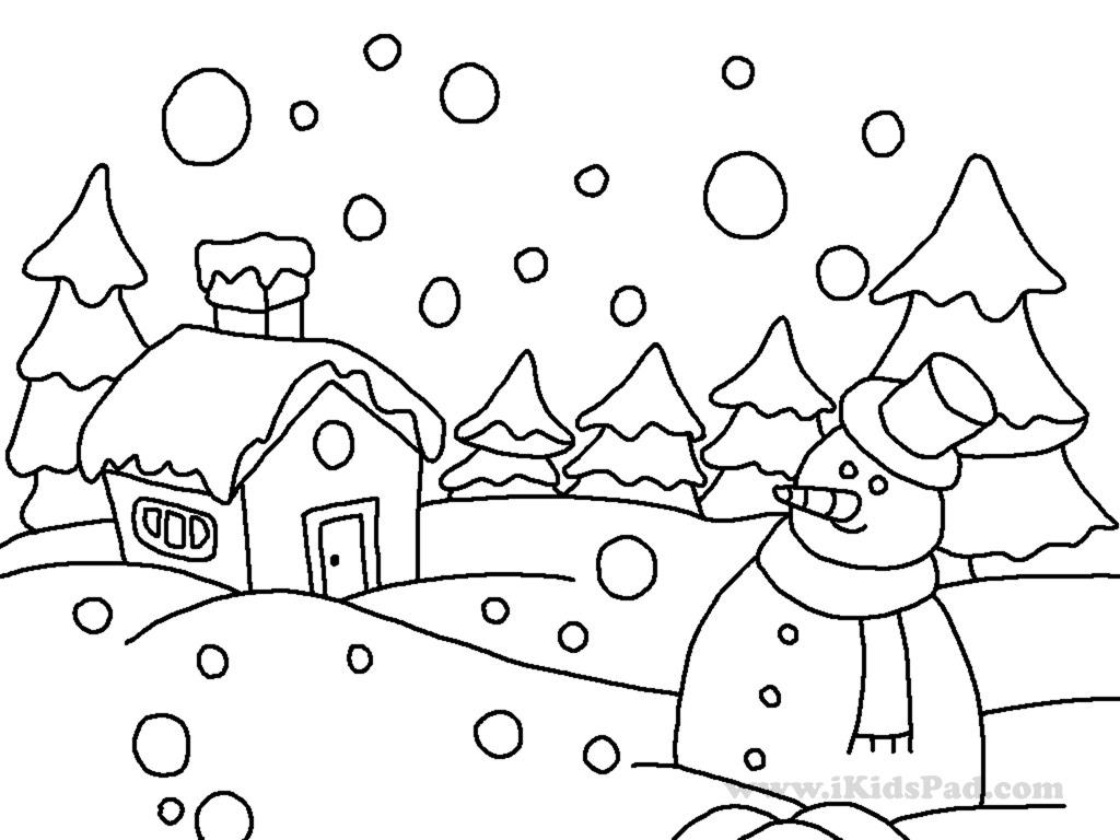 winter coloring pages for preschool - winter season coloring pages