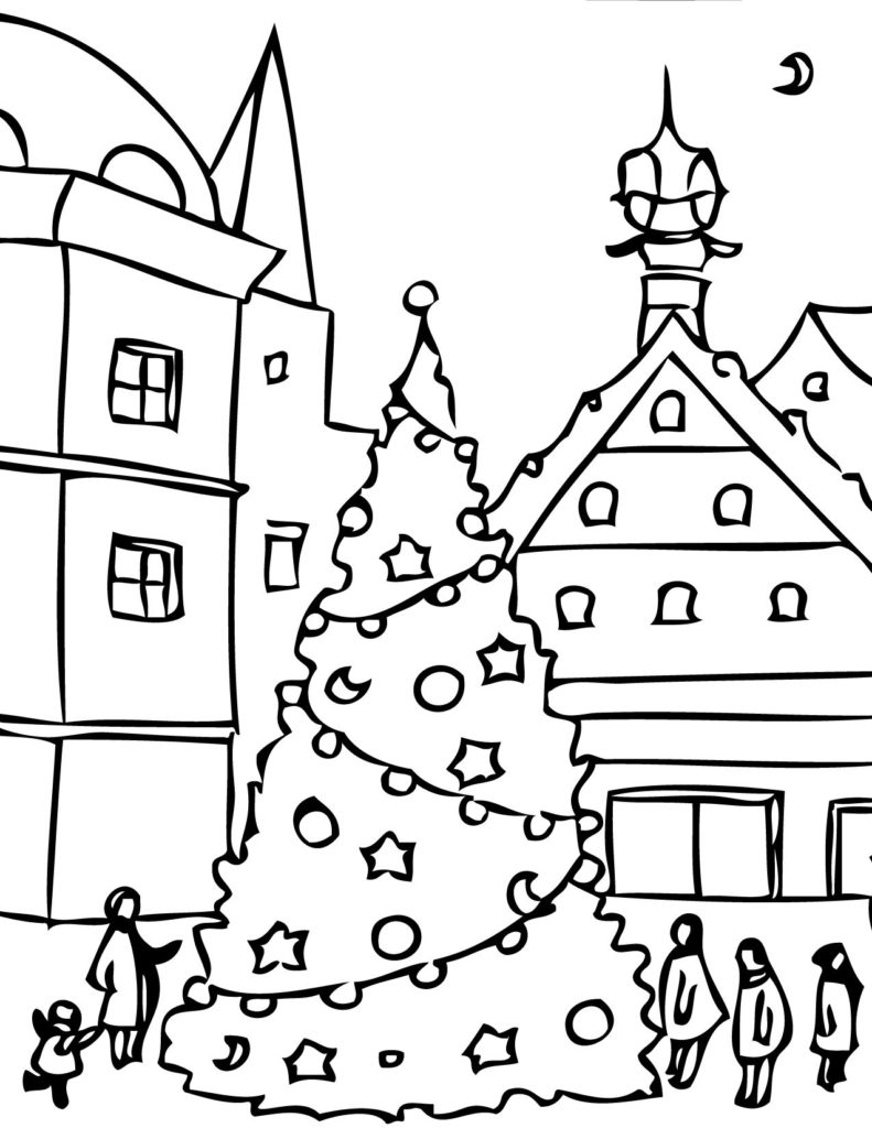 winter coloring pages - celebrations happy holiday coloring pages