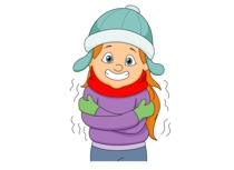 winter coloring pages - cold weather clip art