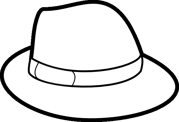 winter hat coloring page - clipart hat outline