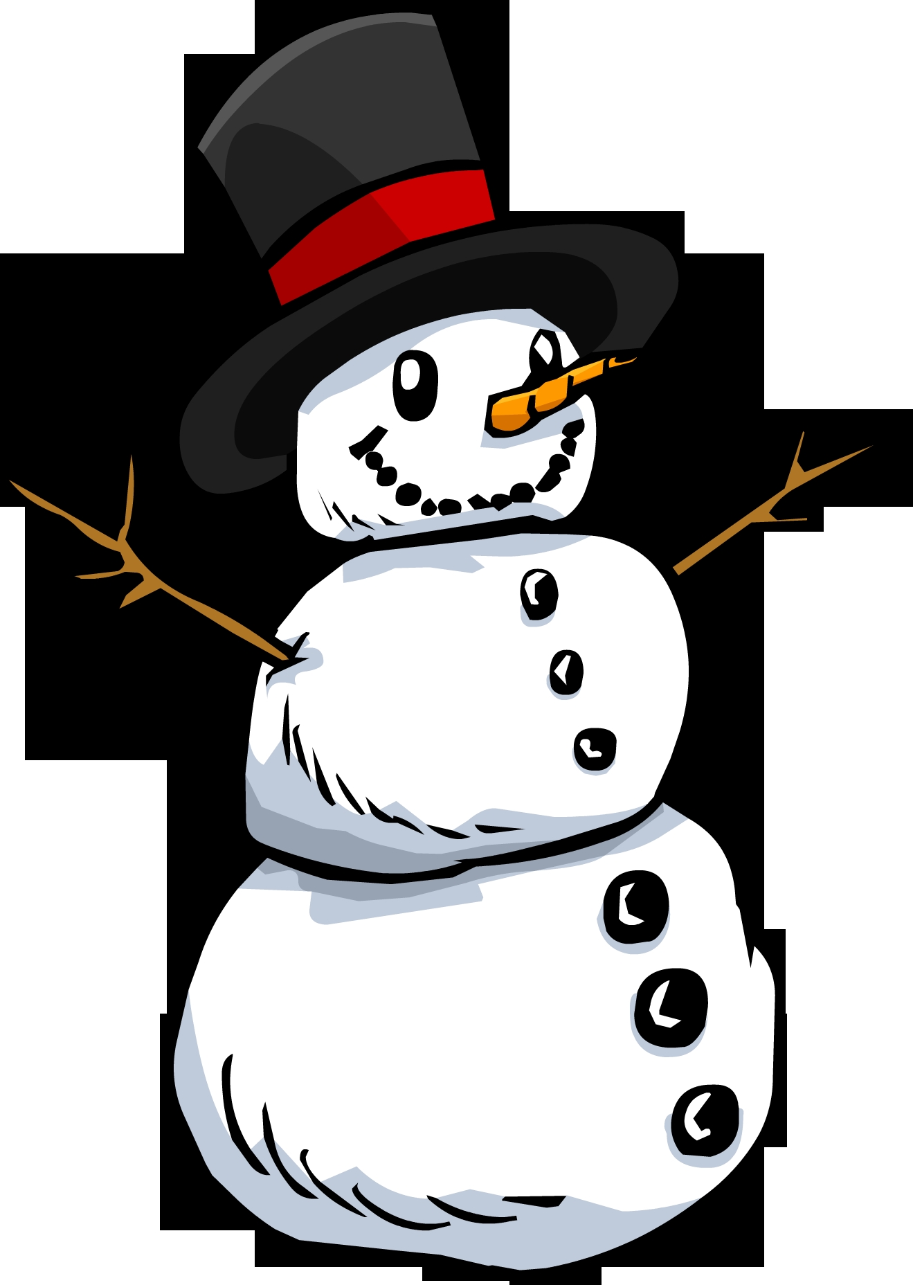 winter hat coloring page - File Snowman PNG