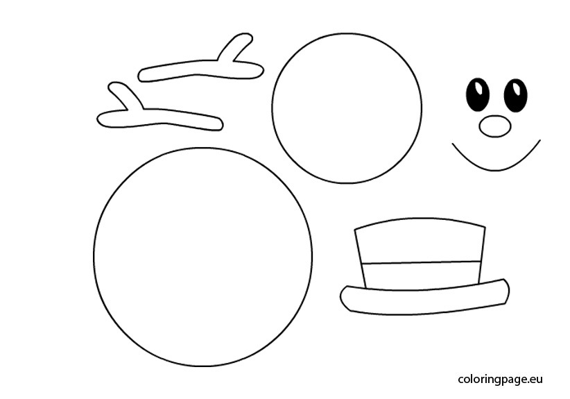 Winter Hat Coloring Page - Snowman Arms Template