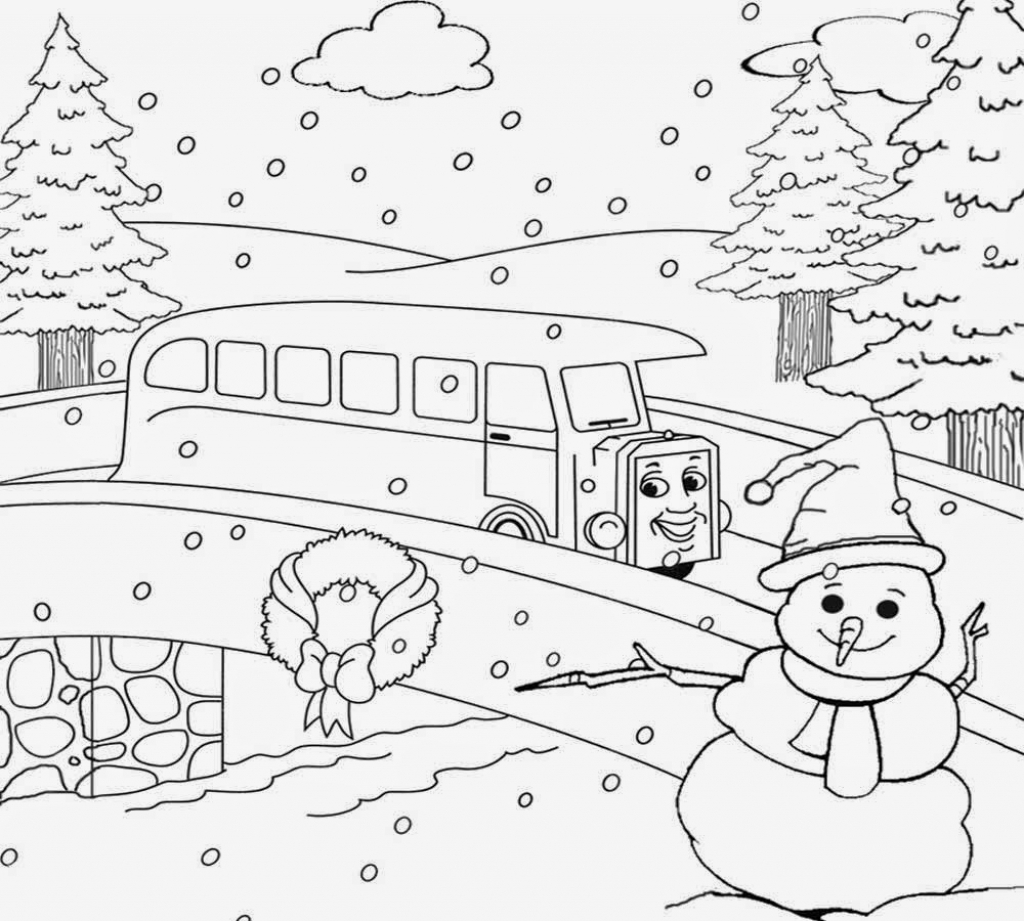 Winter Scene Coloring Pages - Winter Scene Coloring Pages Blank Coloring Pages