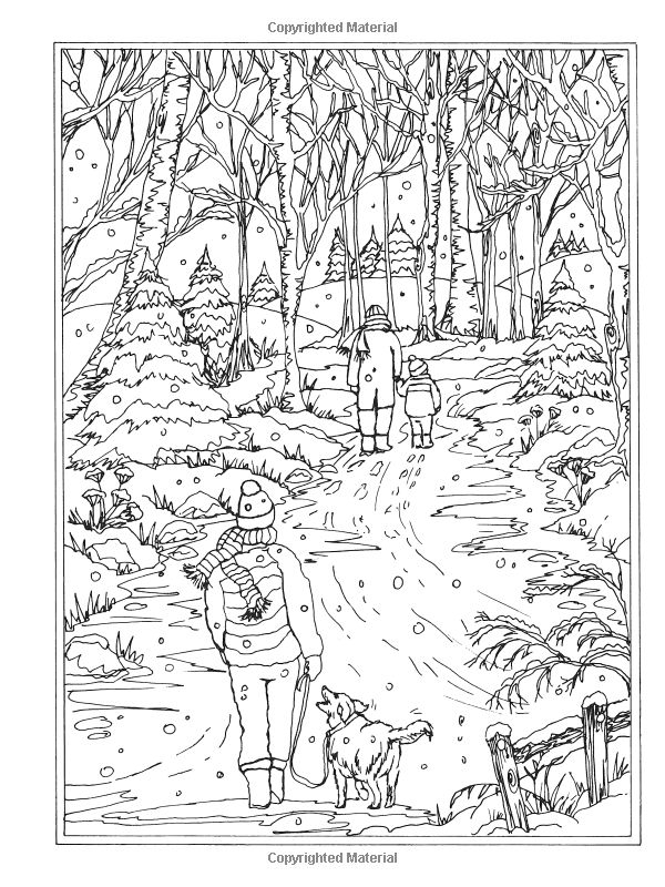 winter wonderland coloring pages - coloring pages