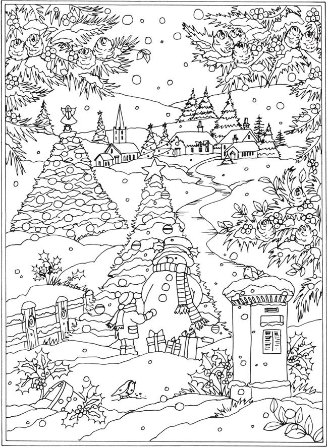Dover Winter Coloring Pages Worksheet Coloring Pages