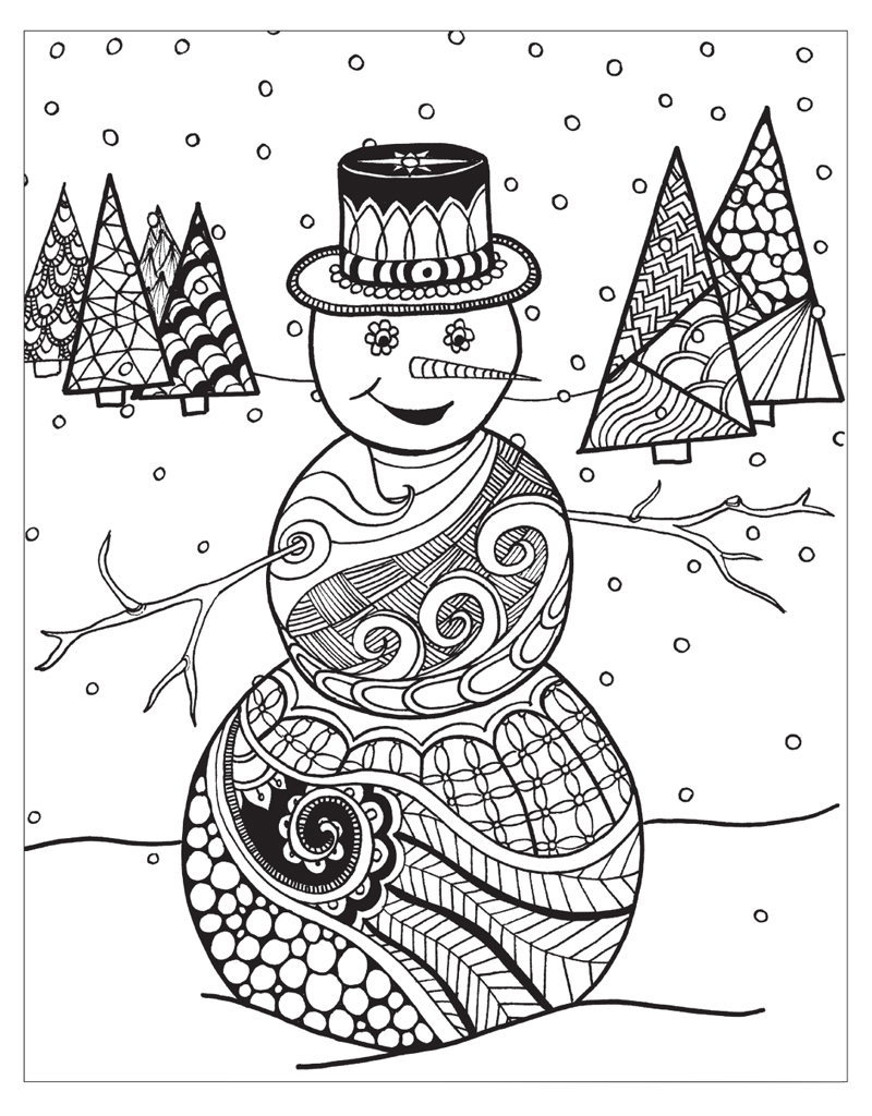 Winter Wonderland Coloring Pages - Zendoodle Coloring Winter Wonderland Jodi Best