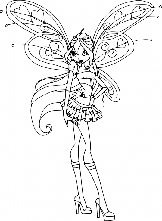 winx coloring pages - bloom believix