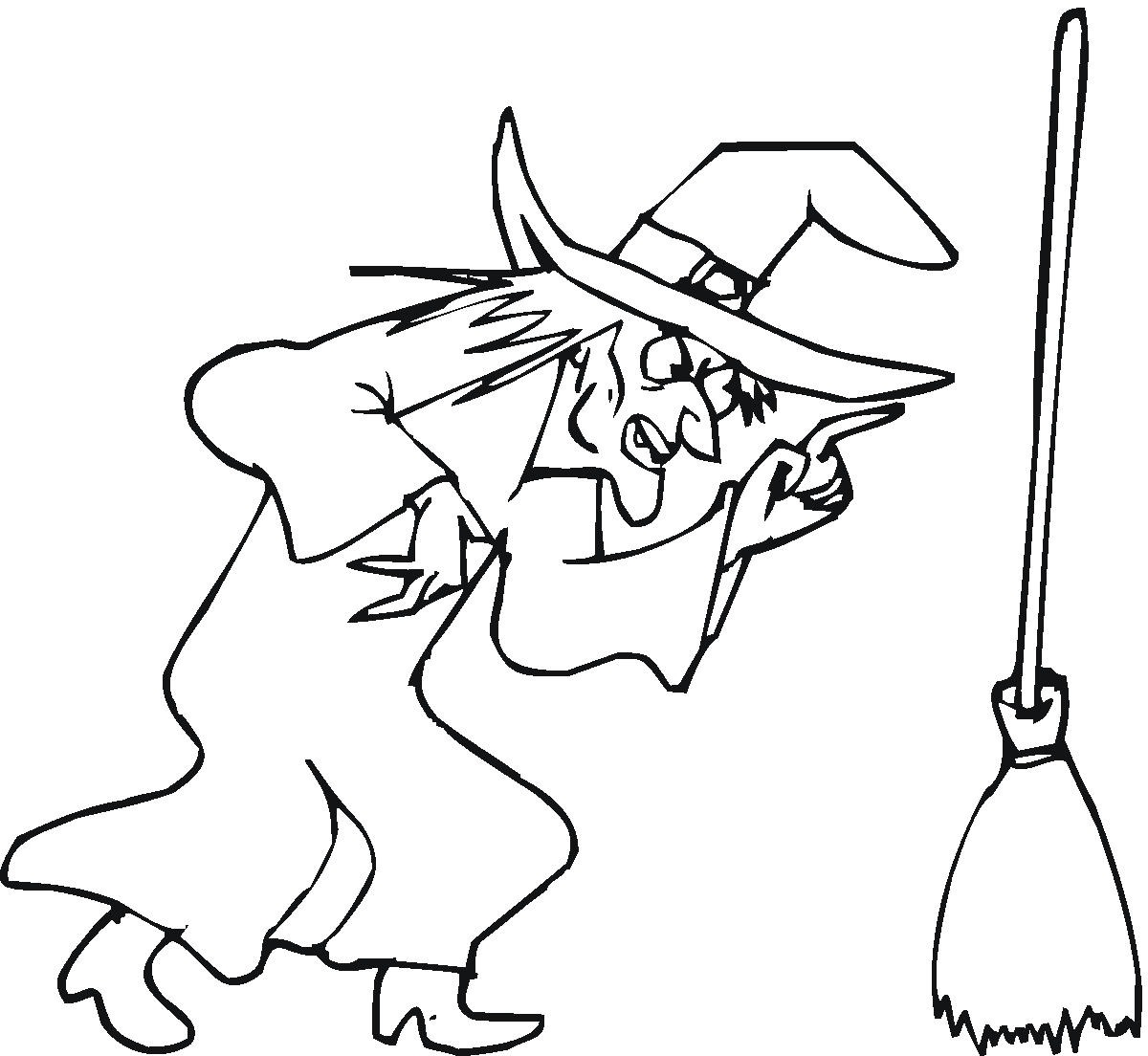 witch coloring pages - witch coloring pages