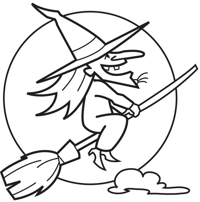 witch coloring pages - witch coloring