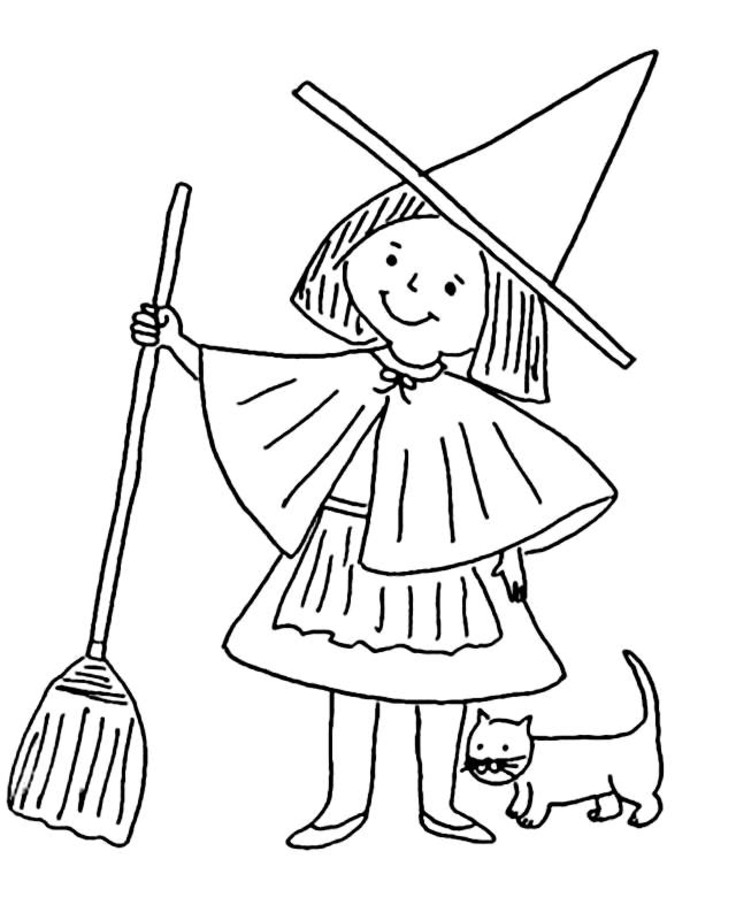 witch coloring pages - witch coloring pages 3