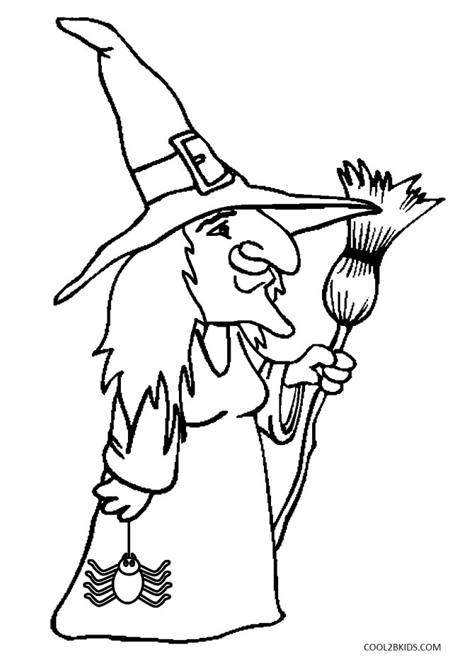 witch coloring pages - witches