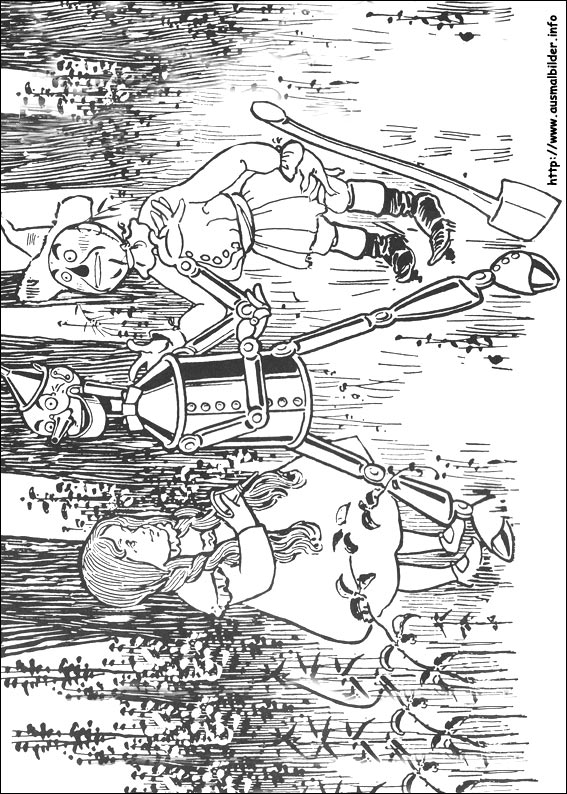 Wizard Of Oz Coloring Pages - Der Zauberer Von Oz Malvorlagen