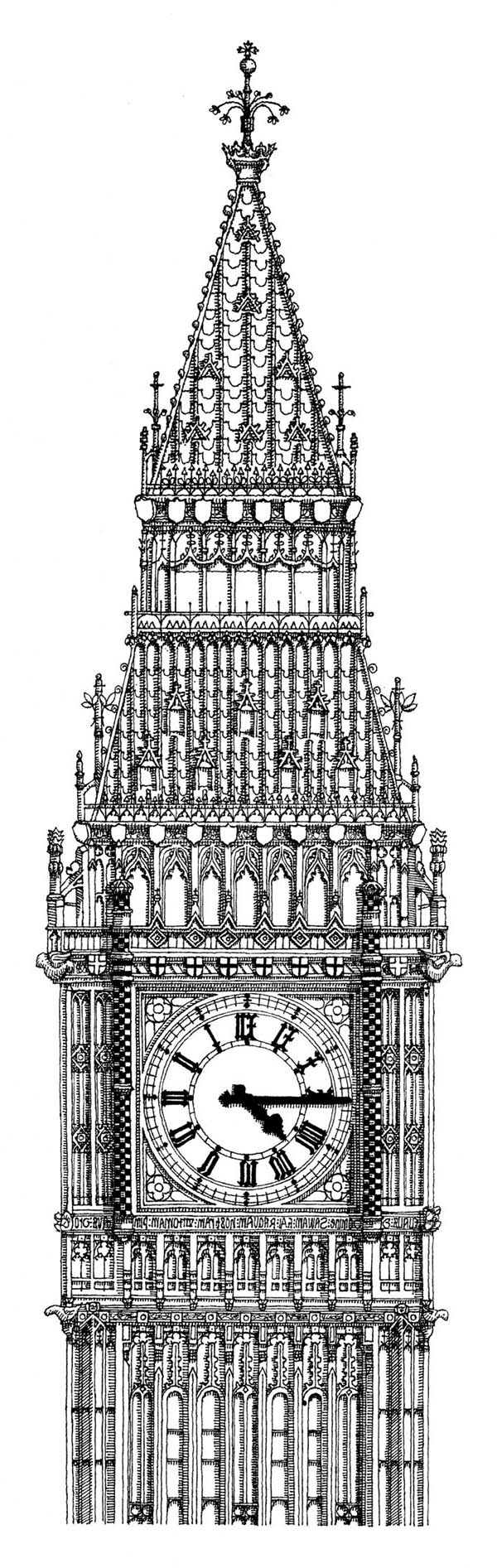 wizard of oz coloring pages - the bell big ben is housed within the elizabeth tower coloring page