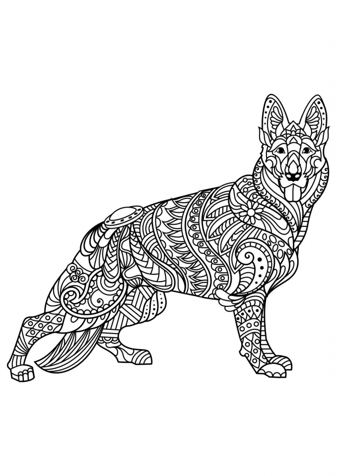 wolf coloring pages for adults - adult coloring pages wolf see more